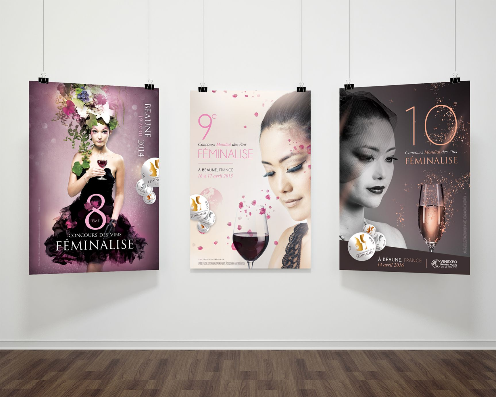 Affiche Concours de vins Féminalise - Beaune - 2016