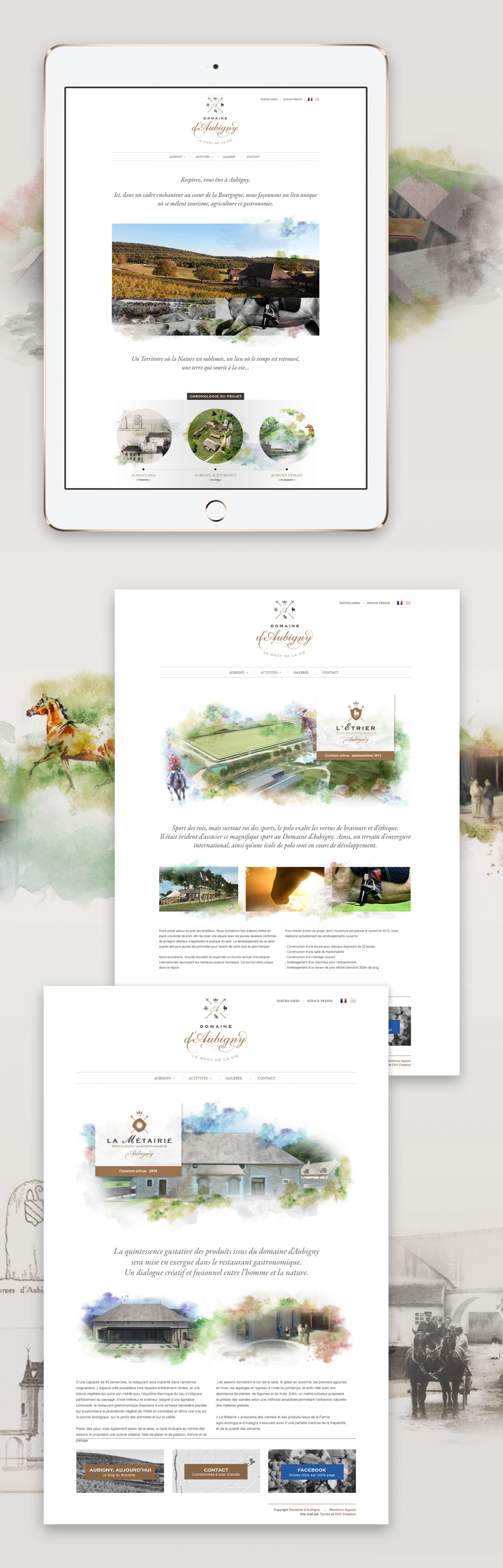 Domaine d'Aubigny Site internet