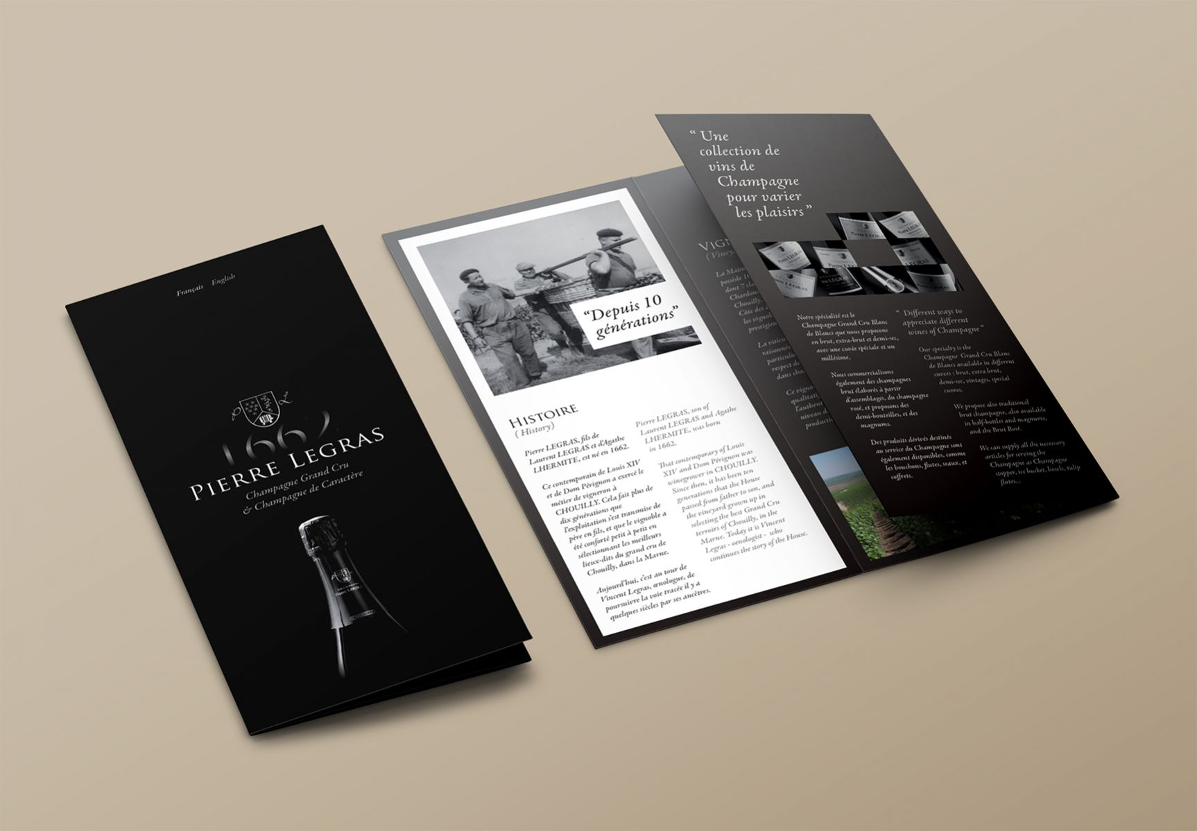 Pierre Legras Brochure Champagne