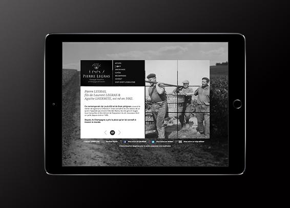 Champagne Pierre Legras Site internet