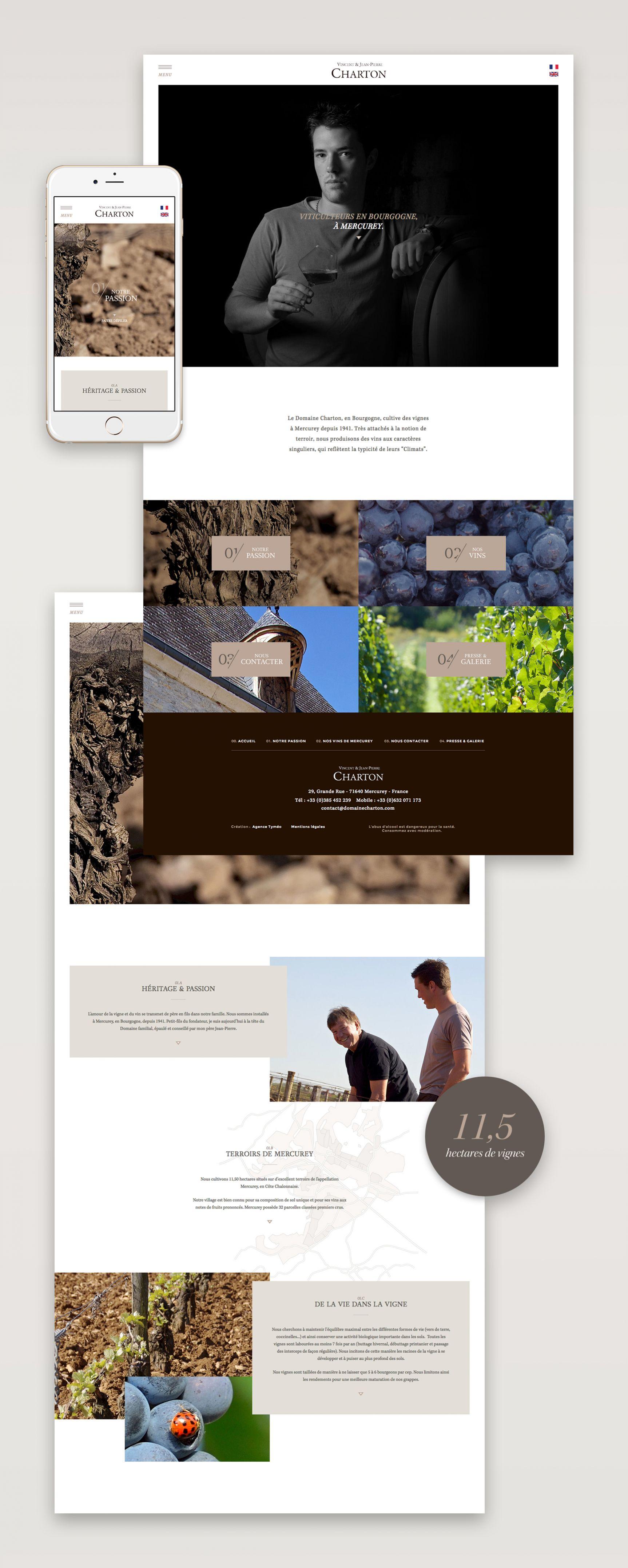 Domaine Charton Site internet