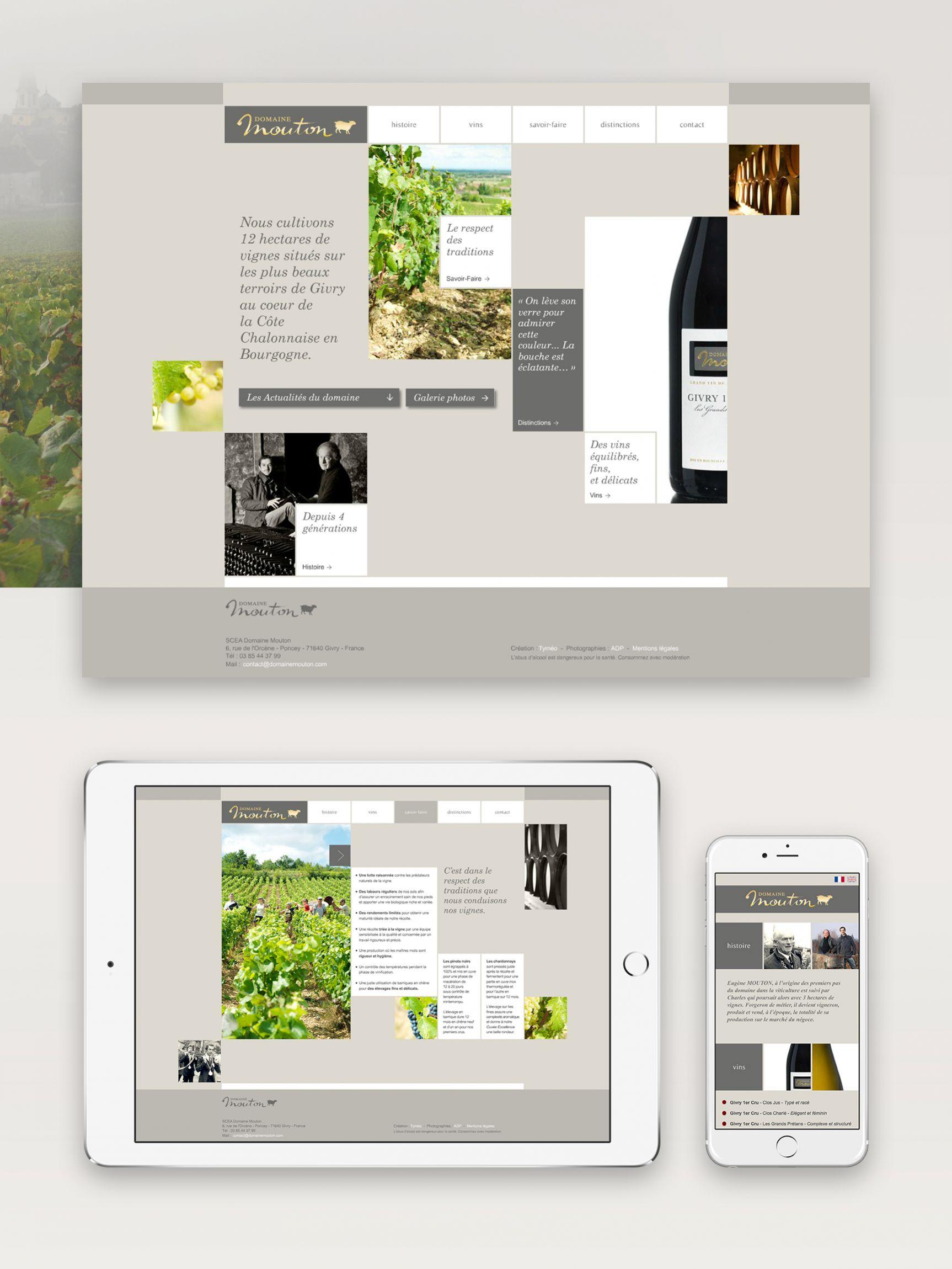 Domaine Mouton Site internet