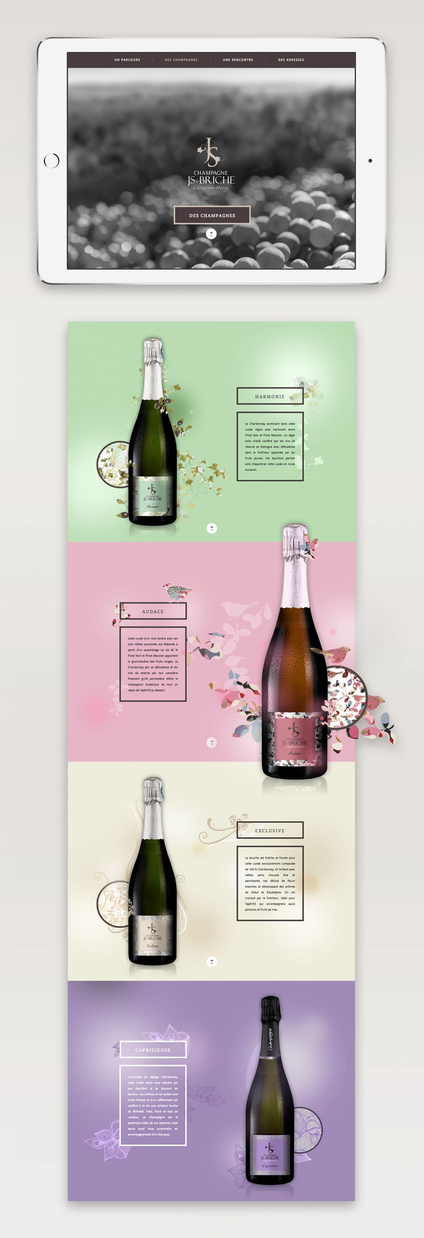 Champagne JS Briche Site internet