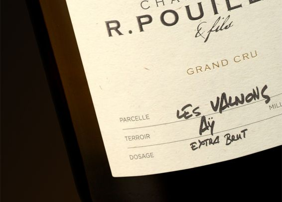 Champagne Pouillon & Fils Packaging Étiquette