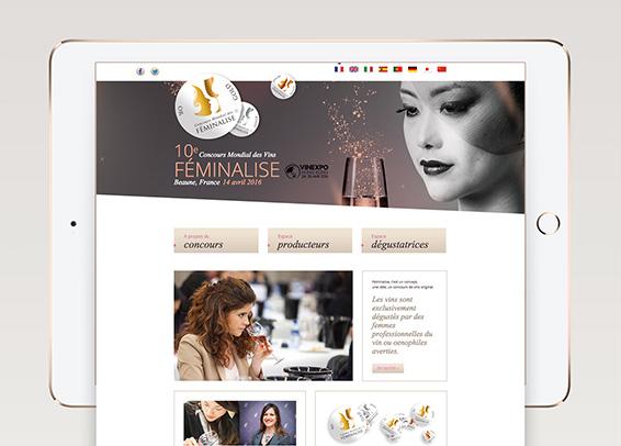 Site internet Concours de vins Féminalise