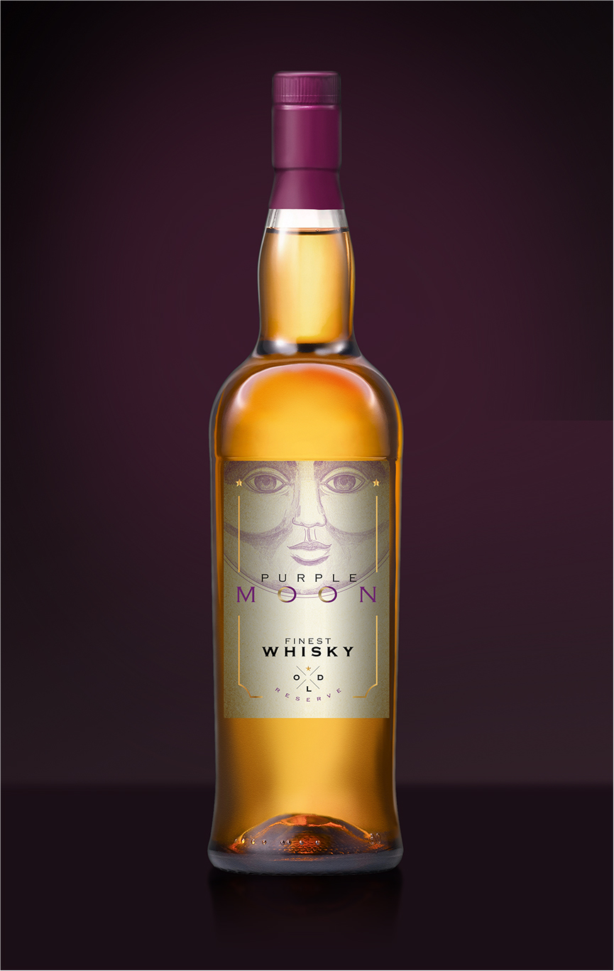 Purple Moon Whisky Packaging