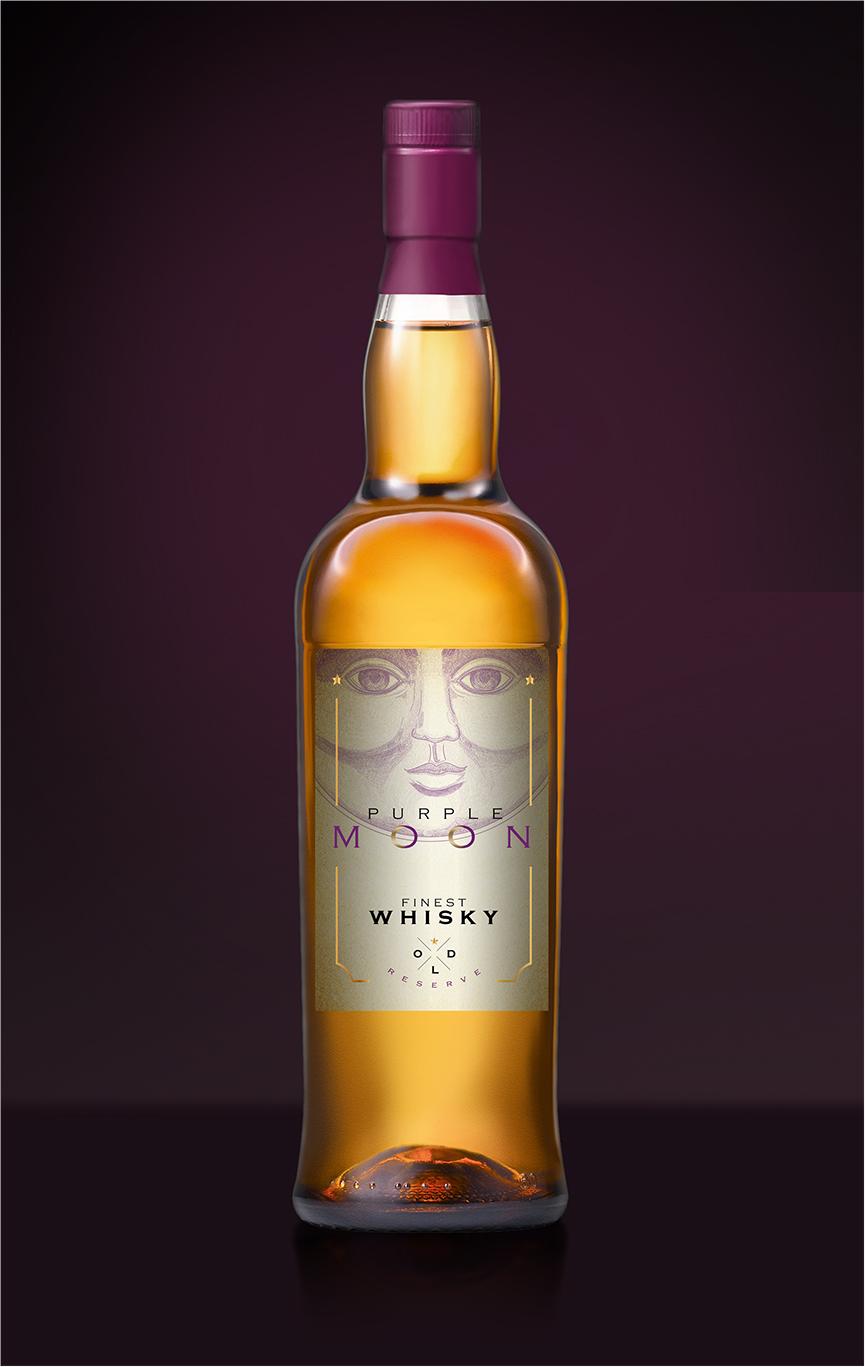 Purple Moon Whisky Packaging