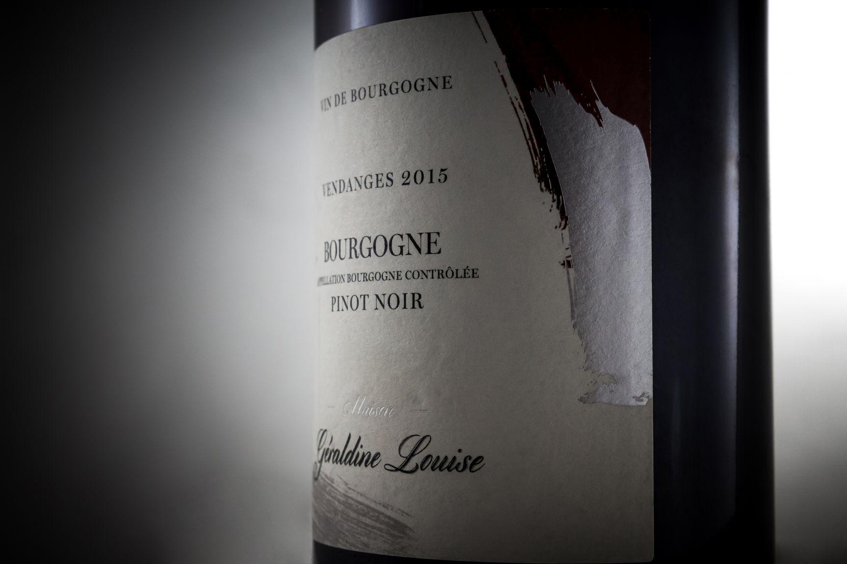 Étiquette vin Bourgogne Géraldine Louise