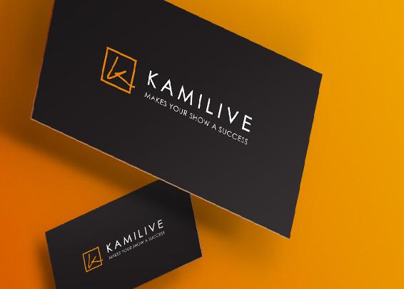 Kamilive Logo carte de visite