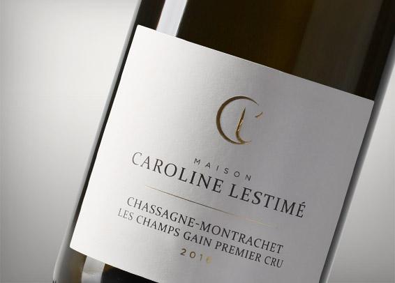 Maison Caroline Lestimé étiquette vin Bourgogne