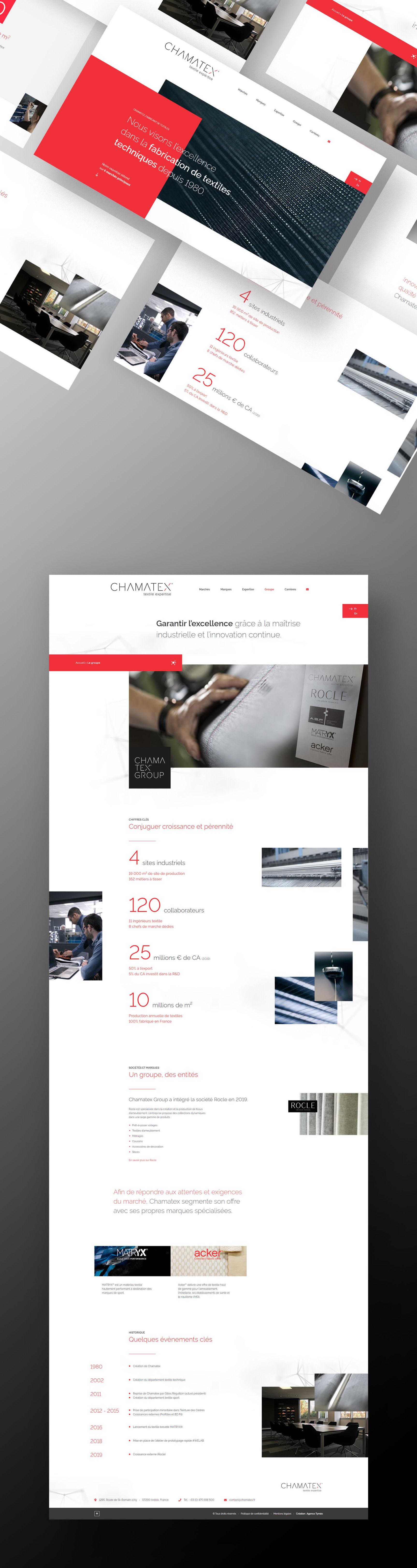 Chamatex site internet